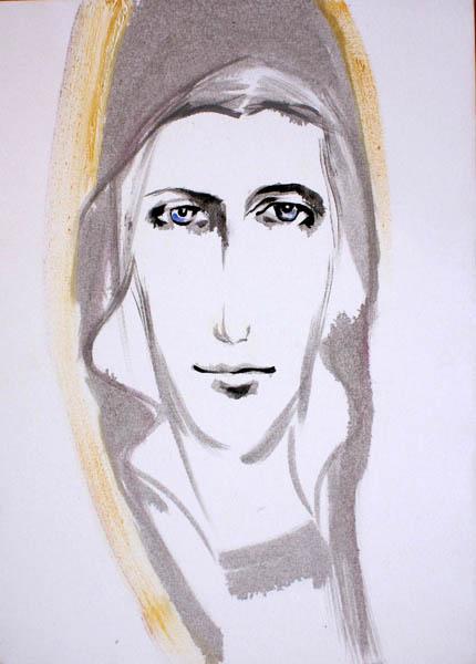 portret olejny